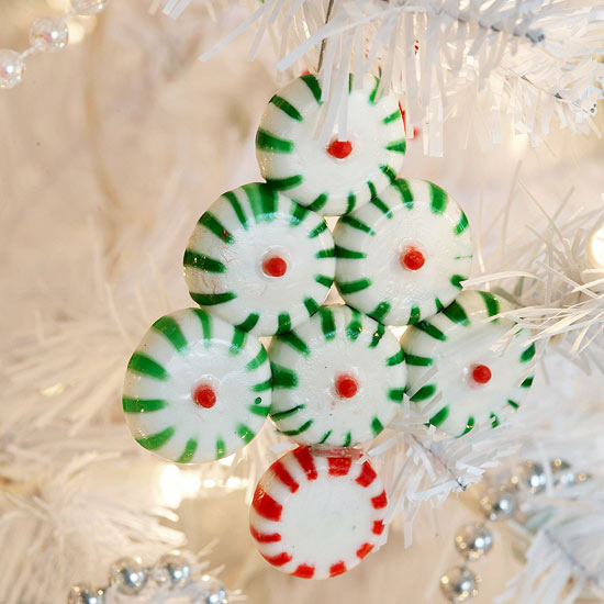 Christmas tree candy ornament