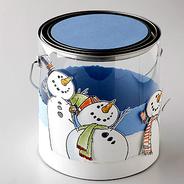 Snow trio bucket