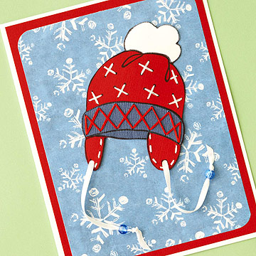 Snow hat card