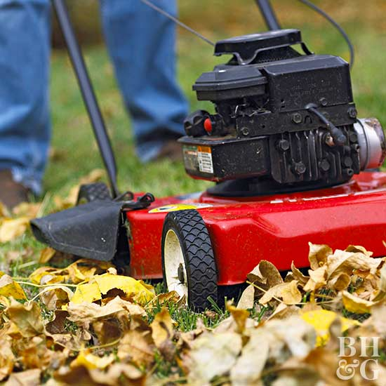 Lawn Mower, home improvement, remodeling, do it yourself home improvements, home repair, home maintenance, fireplaces, windows, gutter, fall, smoke alarms, cleaning, BHG.com, Better Homes and Gardens