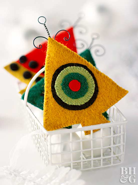 scandinavian felt ornaments