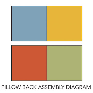 Pillow back assembly diagram