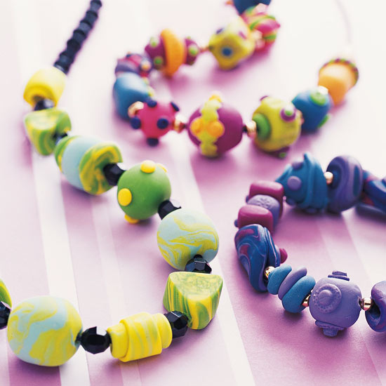 Clay beads jewelry