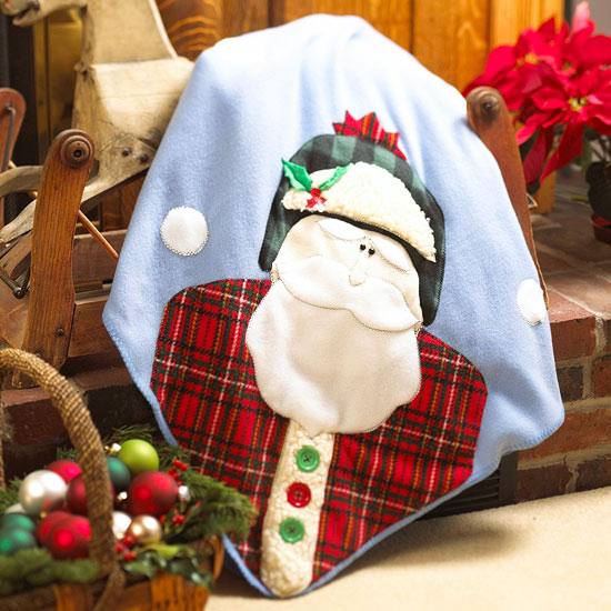 Cozy Santa Christmas Blanket