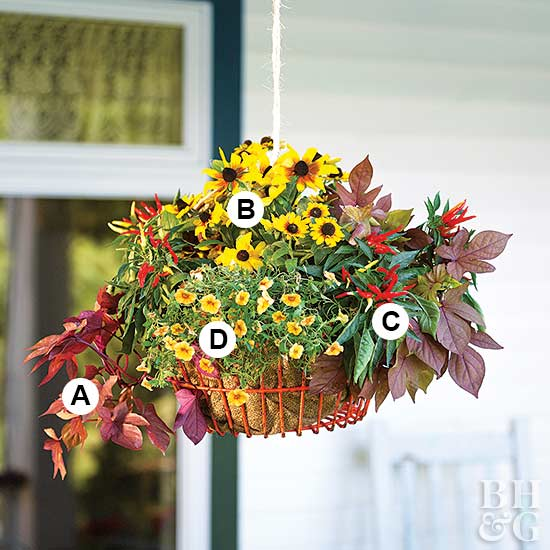Hanging Basket with numbers