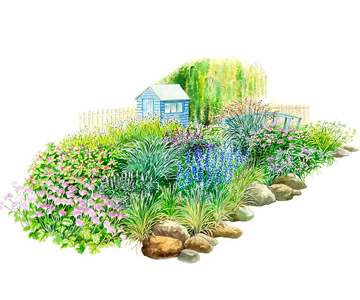 Easy-Care Garden for the North Illustration