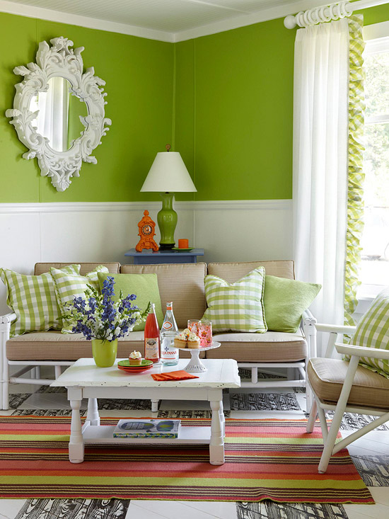 Bold green walls