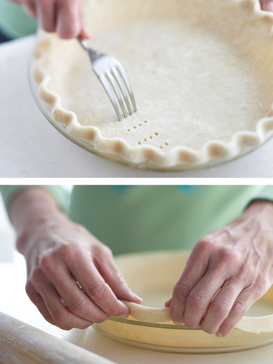 How to make a single crust piecrust better homes gardens for Better homes and gardens pie crust