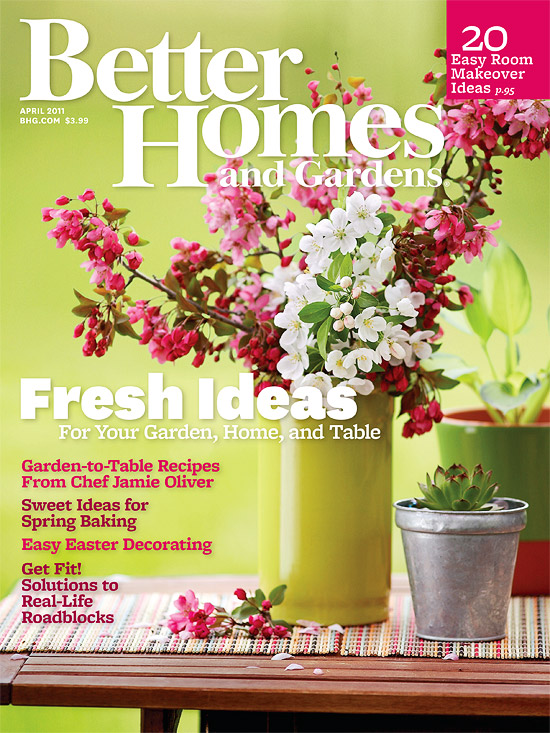 Better Homes and Gardens April 2011 Cover