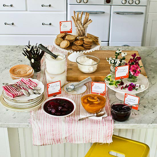 Ice Cream Toppings Table