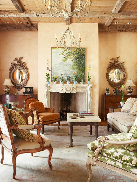 Tuscan living room