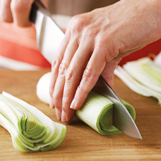 How to Halve, Wash, and Chop a Leek