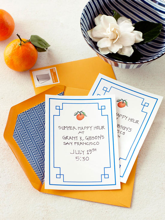 Orange Invitation
