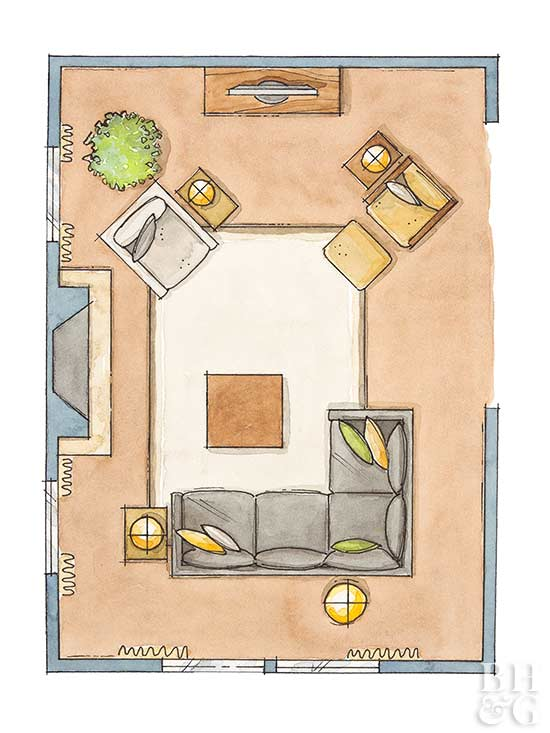living room furniture layouts how to arrange living room furniture better homes amp gardens 13355