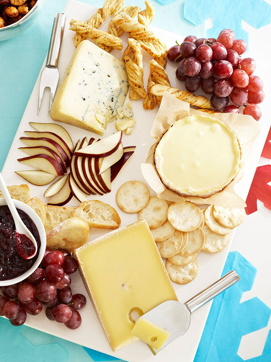 Holiday party cheese plate