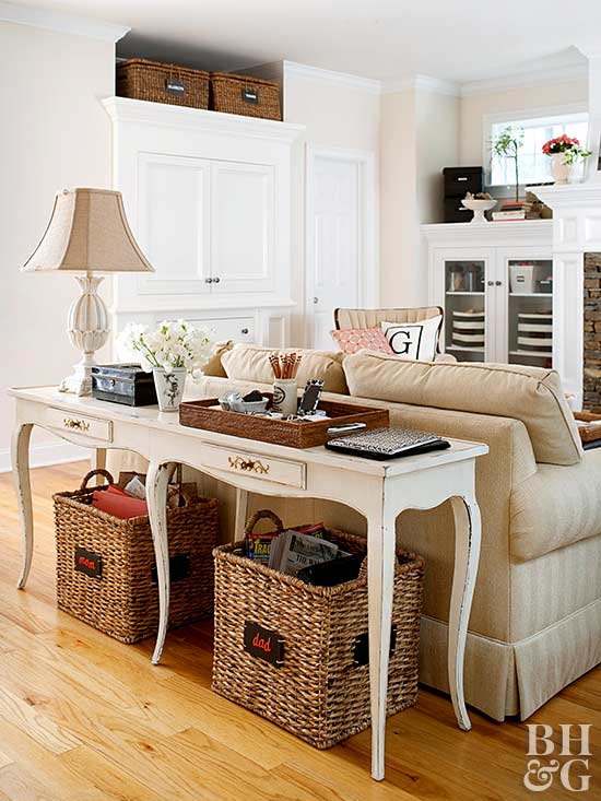 sofa table, storage, living room