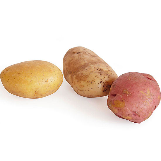 Yukon gold, russet, and red potatoes