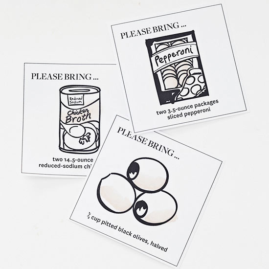 Soup Ingredient Cards