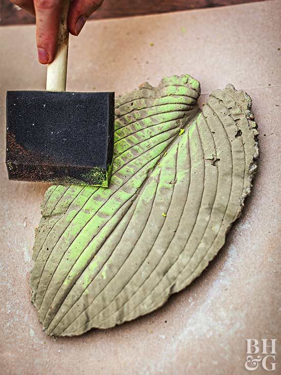 Painting Leaf Stepping Stones