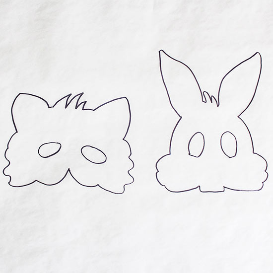 raccoon and bunny masks