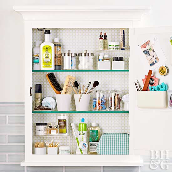 Medicine Cabinet Organization, beauty supplies, cabinet