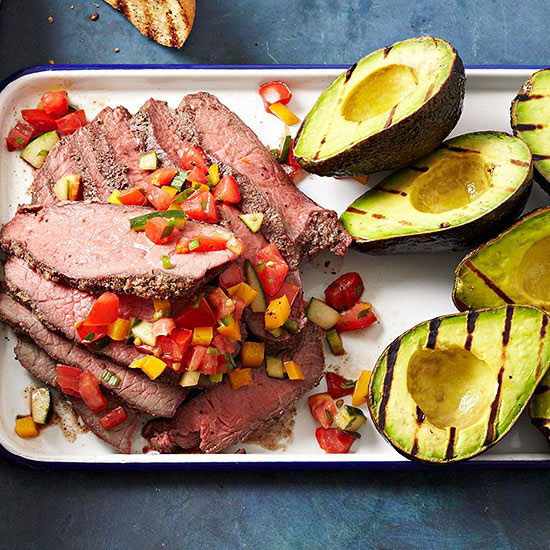 Tri-Tip Roast with Grilled Avocados