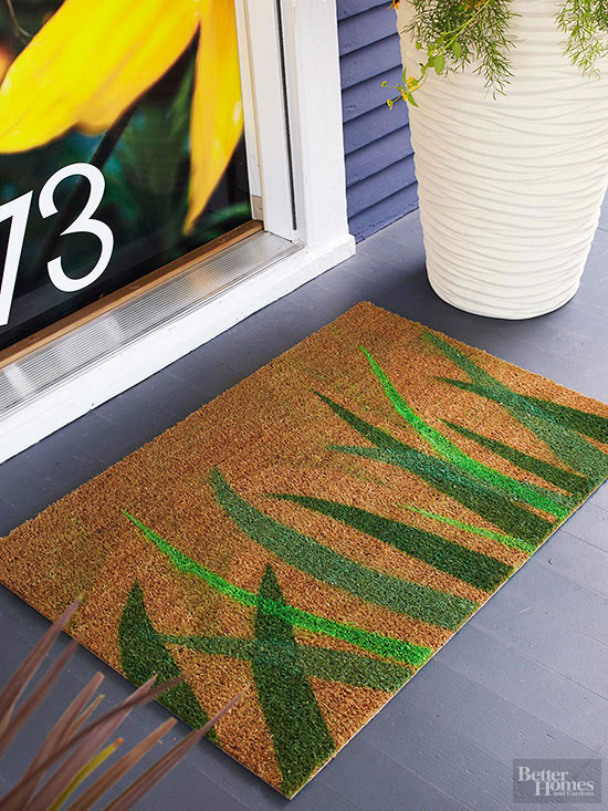 outdoor rug diy