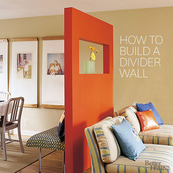 How To Build A Divider Wall
