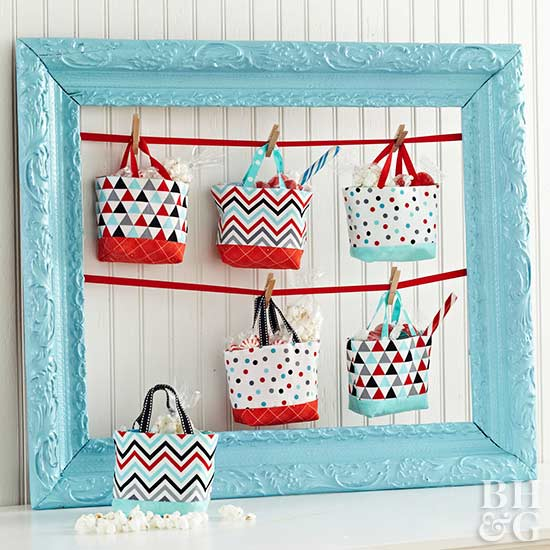 sewing, gift baskets, 4th of July