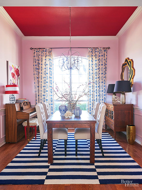 red and pink room