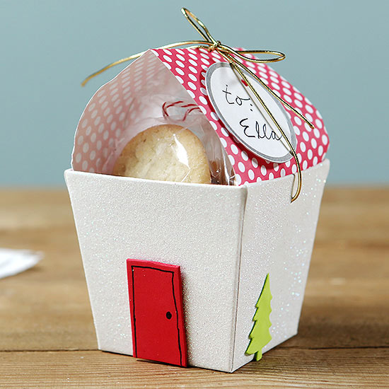 Just Add Treats! Cute Christmas Food Gift Idea