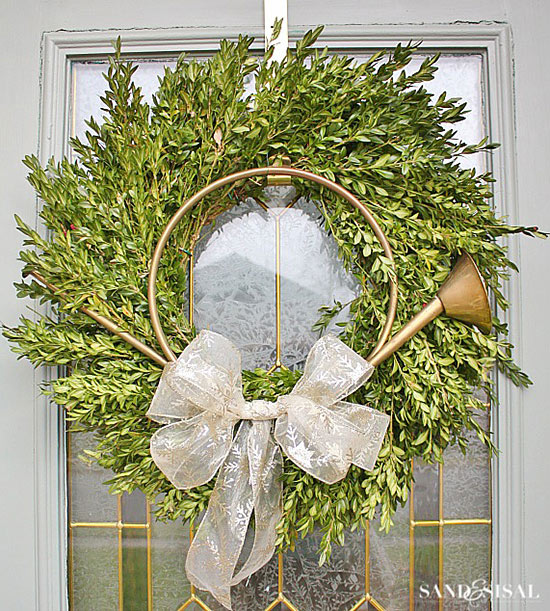 Boxwood Wreath Christmas Home Tour