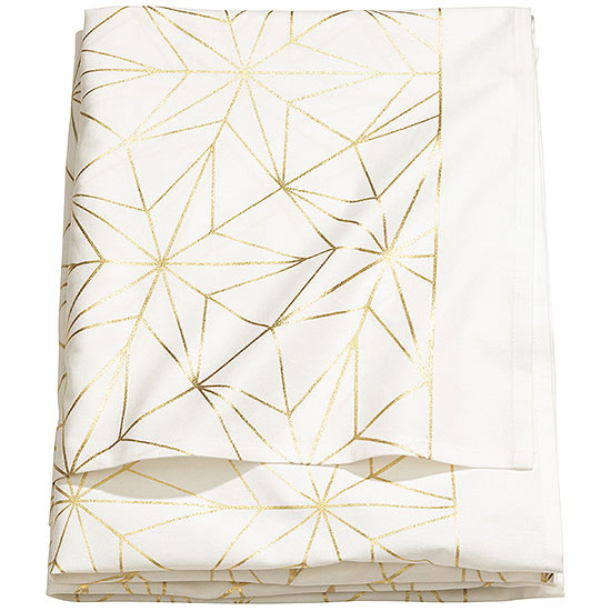 gold star table cloth