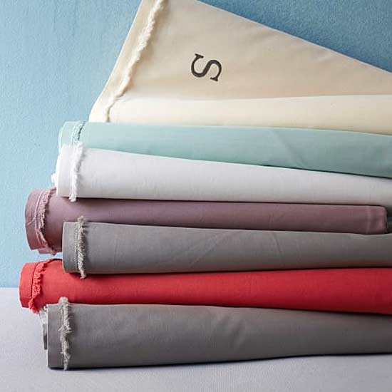 bedsheets west elm organic cotton