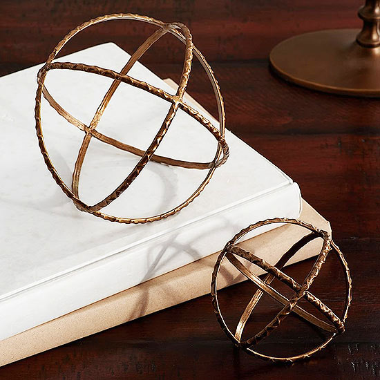 Pottery Barn Textured Metal Spheres