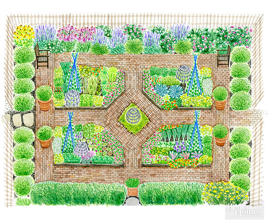 french kitchen garden plan better homes gardens