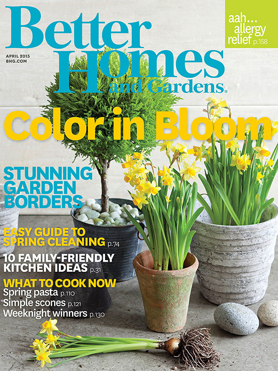 Better Homes and Gardens April 2015 cover
