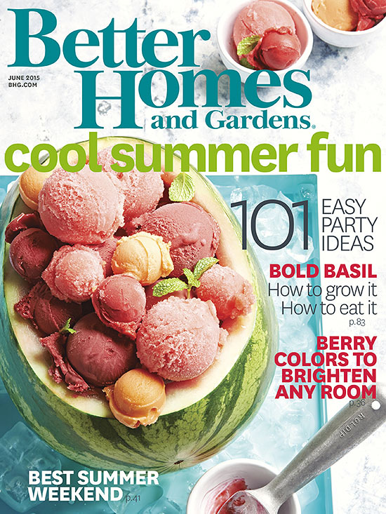 better homes and gardens cover June 2015