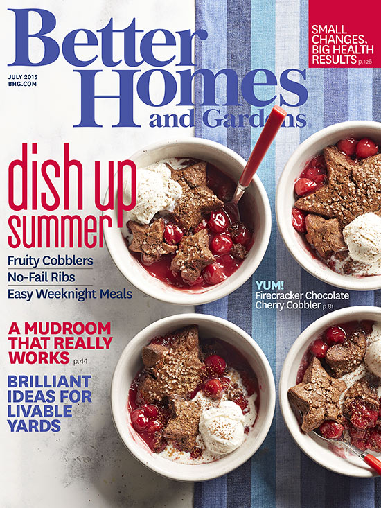 July 2015 Better homes and gardens cover