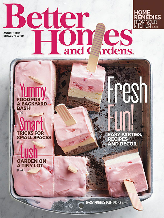 Better Homes and Gardens August 2015 Cover