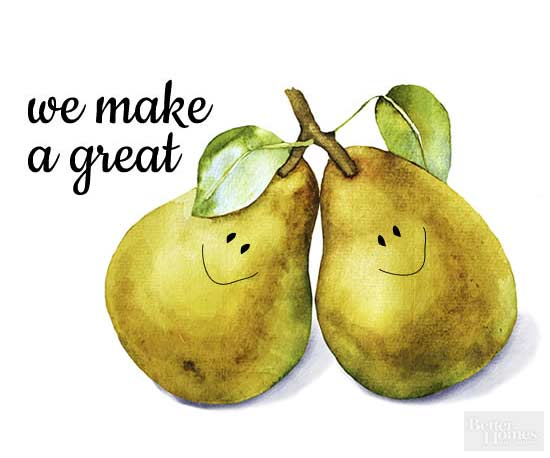 We Make a Great Pear Valentine