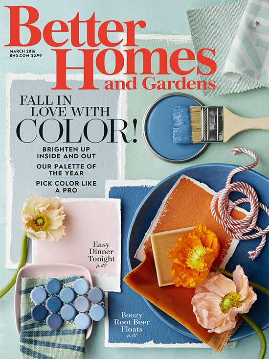 Better Homes and Gardens cover March 2016