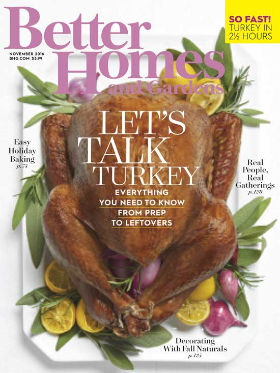 Better Homes and Gardens cover 2016
