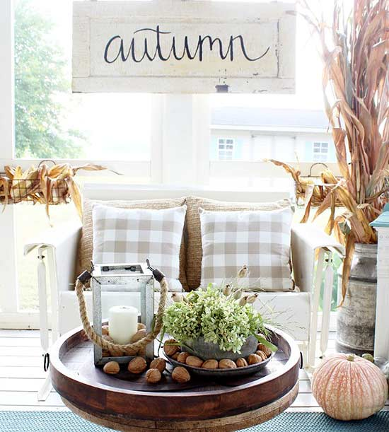 Neutral Fall Decor from the Garden