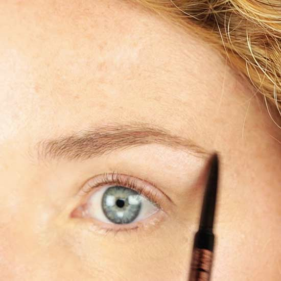 Brit + Co Natural Makeup eyebrow