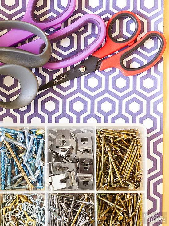 scissors and nail storage