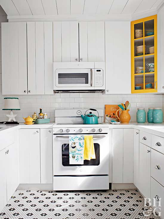 white kitchen and appliances
