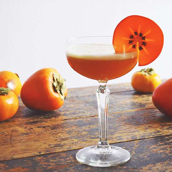 bourbon persimmon amaretto sour