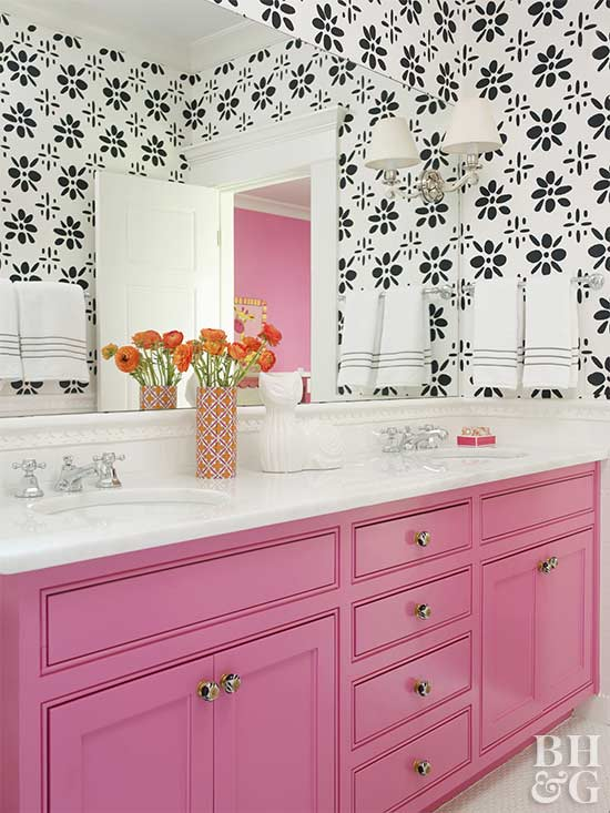 pink bathroom color schemes best bathroom colors better homes amp gardens 19987