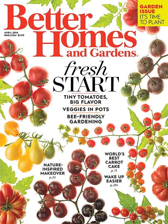 Better Homes and Gardens cover 2016 April